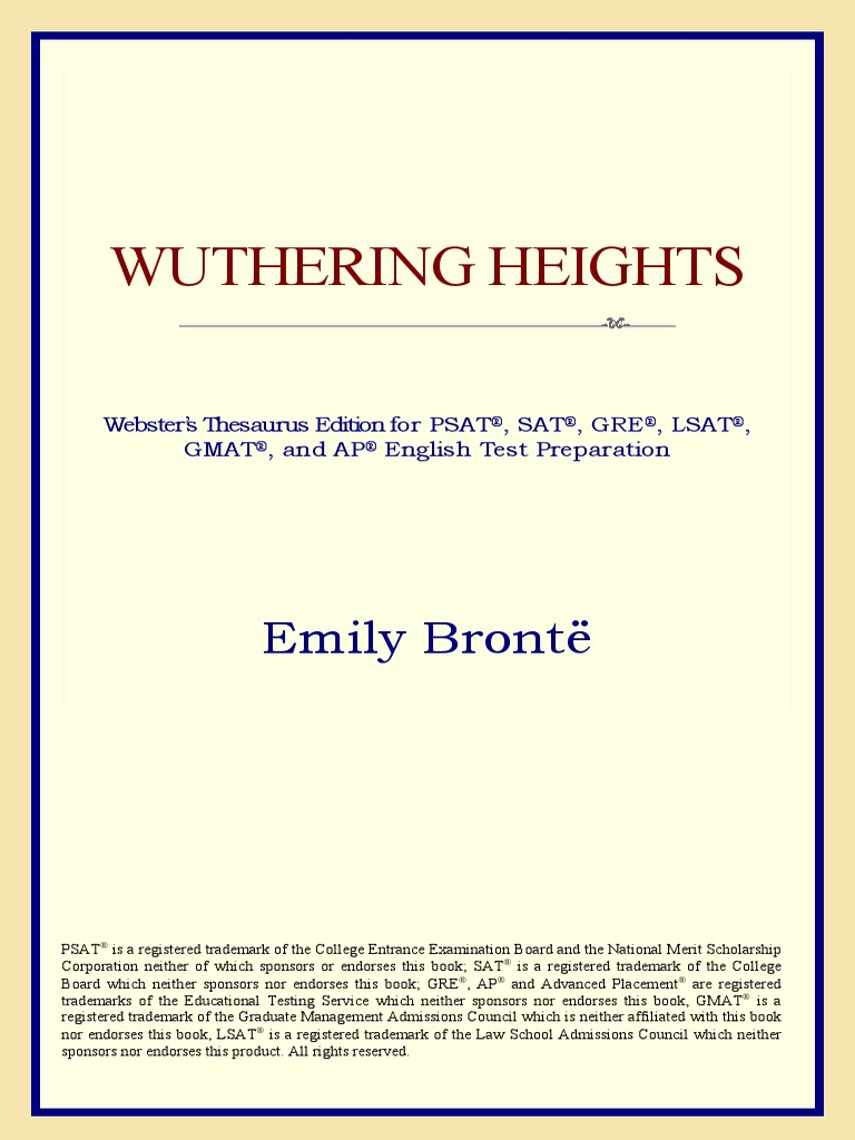 Wuthering Heights Websters Thesauruspdf Copyright Wuthering
