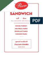 Parm WB Sandwich