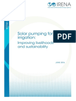 IRENA Solar Pumping for Irrigation 2016