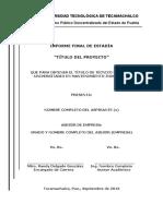 Estructura de Informe de Estadia TSU 2016