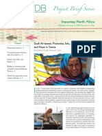 Tunisia - Impacting North Africa - Souk at-tanmia - Promoting Jobs Innovation and Hope - Project Brief Series