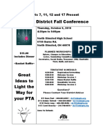 Districts 7, 11, 12 and 17 Present Ohio PTA District Fall Conference