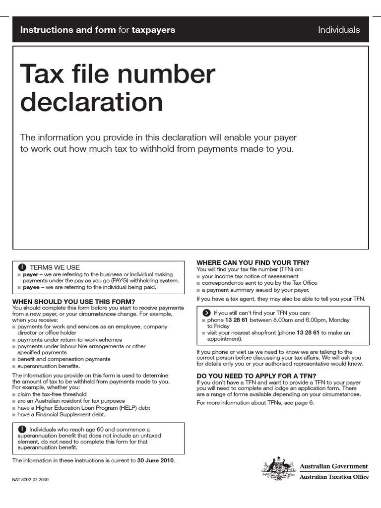 You Need A Tax File