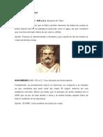 Filosofos de Las Edades Media, Antigua, Moderna y Contemporanea