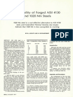 Weldability of Forged AISI 4130 and 1020 Mn Steels