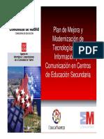 Plan de Mejora y Modernizacion de Las TIC