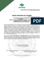 Acta Ordinaria de Academia 1 Ciencias