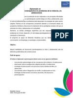 Diplomado en Intervención en Problemas de La Infnacia y La Adolescencia en Línea
