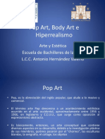 16 Arte Contemporáneo Body Art, Pop Art,