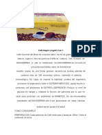 Informacion Cafe Dxn