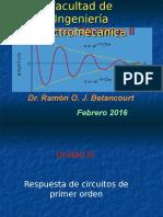 Circuitos Electricos II Circuitos de Primer Orden 2016
