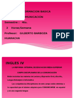 14. INGLES IV_BARBOSA_presentacion Asignatura
