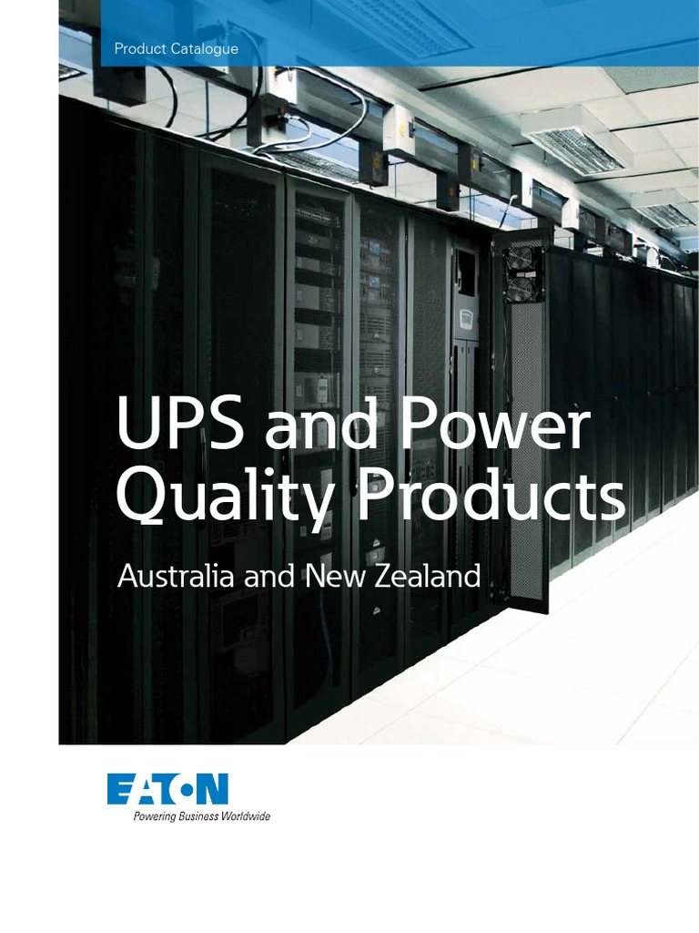 UPS and Power Qyality Products Australia and New Zealand Catalogue ...