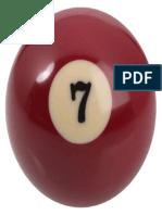 Number 7 Billiard Ball 320x320