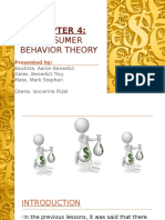 Consumer Behaviour (Water-Diamond Theory)