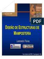 Diseño de Mamposteria