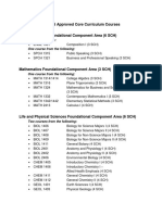 2014 15 Approved Core Curriculum Courses Updated