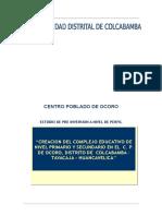 Estudio de Pre Inversion de colegio huacayo