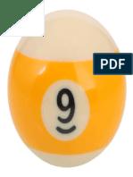 Number 9 Billiard Ball 320x320