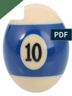 Number 10 Billiard Ball 320x320