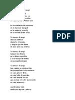 Poema Tu Ternura de Angel