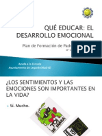 QUÉ EDUCAR, EL DESARROLLO EMOCIONAL