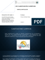 Agroclimatologia Clasificacion de Climas