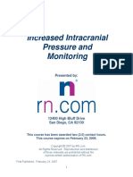 Increased Intracranial Pressure and Monitoring Site