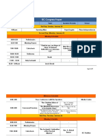 IEC Congress Proper Schedule