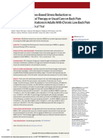 Effect of Mindfulness-Based Stress Reduction vs Cognitive Behavioral Therapy or Usual Care on Back Pain and Functional Limitations in Adults With Chronic Low Back Pain- A Randomized Clinical Trial