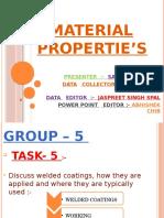 Material Propertie's Week 7