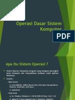 Materi Operasi Dasar System Komputer