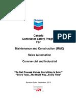 Chevron Canada Safety Program