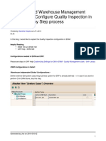 Configure Quality Inspection in Ewm Step by Step Process