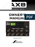 AX8 Owners Manual