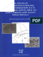 (B0638) Zhuyao Zhang, R. a. Farrar-Atlas of Continuous Cooling Transformation (CCT) Diagrams Applicable to Low Carbon Low Alloy Weld Metals (Matsci-Maney Materials Science (1995)