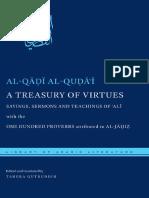 A Treasury of Virtues - Ali Ibn Abi Talib, Tahera Qutbuddin, Al-Qa