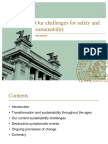 Our Challenges for Safety and Sustainability