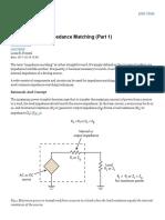BacktoBasics_ImpedanceMatching_Part1
