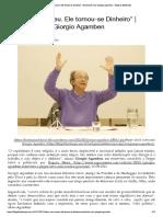 """""""Deus não morreu. Ele tornou-se Dinheir...com Giorgio Agamben – Blog da Boitempo"""