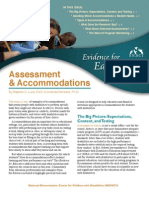Assessment and Accommodations