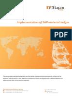 Implementation of SAP Material Ledger