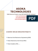 Power Electronics, Power Systems, EEE projects using Matlab/Simulink software for BTech and MTech