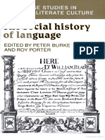 The Social History of Language by Peter Burke