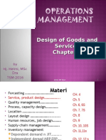 Design of goods and service