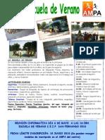 Cartel Escuela de Verano 2010