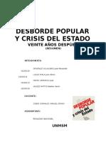 Desborde Popular y Crisis Del Estado (Resumen)