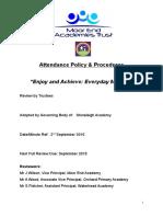 Attendance Policy Trust JulyAgreedFinal (1) (1) (1)