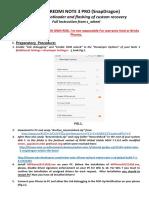 Unlock Redmi Note 3 Full Instruction