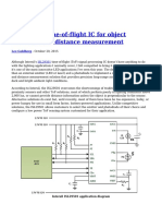 LED Based Time of Flight IC for Object Detection and Distance Measurement